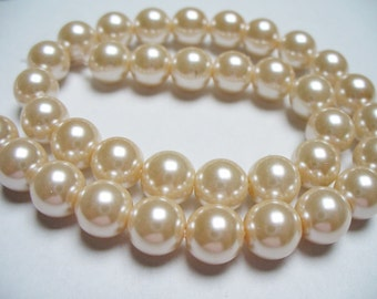 Glass Pearls Apricot 8MM