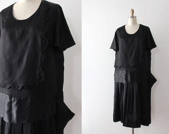 vintage 1920s dress // 20s black deco dress