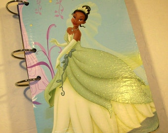 Guest Book, Princess Tiana Party, Princess and the Frog Party, Princesd Guest Book, Princess and the Frog Baby Shower, Sign in Book, Blue
