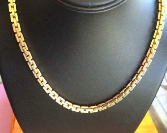 Vintage Classic Signed Monet Decorative Chain Necklace