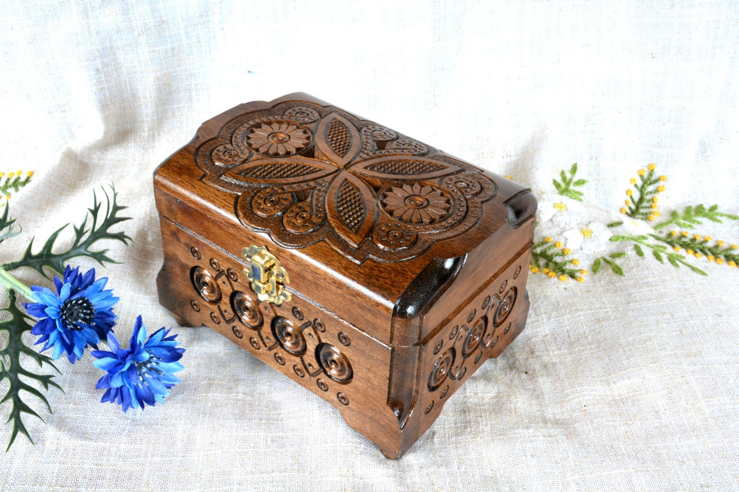 jewelry box wooden box wood box ring box wedding jewelry