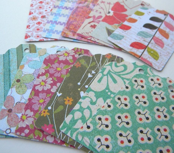 Basket Weaving Supplies Raleigh Nc : Paper tags with fun prints use as gift or favor