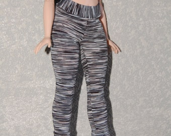 Curvy Barbie Black exercise yoga pants A4B147 fashionista fashion doll clothes READY TO SHIP