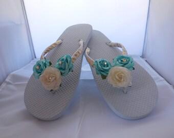 Wedding Flip Flops Size 11-12 XL