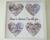 Heart Map Art Personalized Engagement Gift Unique Engagement Gifts Map Art Gift Unique Wedding Gift Wedding Gifts Personalized Story of Us