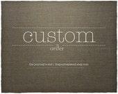 Custom Listing For Caterina