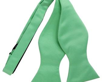 Men's Solid Aqua Green Self-Tie Bowtie, for Formal Occasions