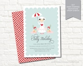 Mary Poppins Themed Digital Birthday Party Invitation