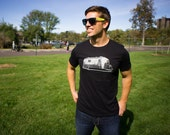 Men's Vintage Airstream Trailer T-Shirt - Happy Camper Tee