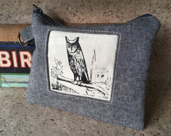 Night Owl Linen Handprinted Tool Bag, IN STOCK
