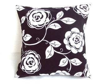 Black & White Pillow Cover, Pillow Covers, Home Decor, Home Accents, Decorative Pillows, 16x16 Pillow Covers