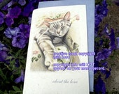 about the love... journey cards/sentimental cards/unique empathy condolence cards/gray tabby cards/choose an image