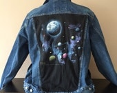 Reserved for Bri do not purchase  Vintage Denim Jean Jacket Trucker - Outer Space handmade