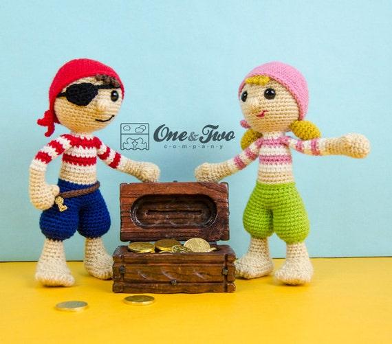 Amigurumi On The Go Download : Pete and Penny the Pirates Amigurumi - PDF Crochet Pattern ...