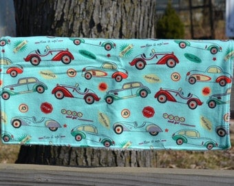 """Security Blanket - Baby Lovey - 13"""" x 18"""" Flannel and Super Plush Fabric - Shower Gift"""