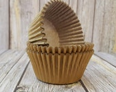Gold cupcake liners 50 count baking cups muffin cups standard size grease proof cupcake cups cupcake wrappers