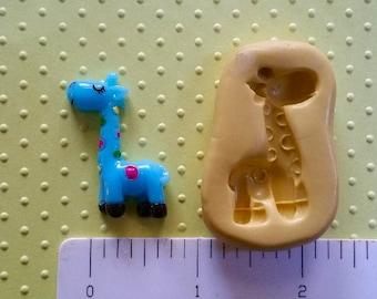 GIRAFFE mold flexible silicone mold for fondant resin polymer clay sculpey wax zoo safari animal mold chocolate birthday party