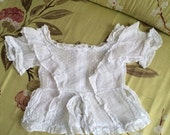 vintage French muslin child top
