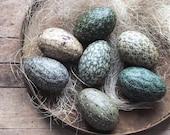 Green Easter Egg Bowl Fillers, Farmhouse Cottage Decor, Spring Easter Decoration