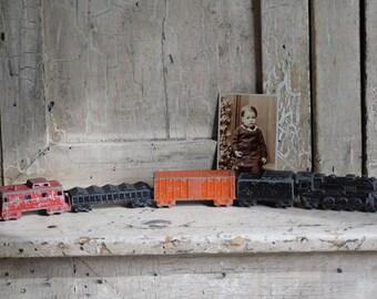 Vintage Metal Toy Train, Midget Toys