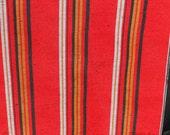 RESERVED  Dana TSUMUGI STRIPE   Vintage Japanese Kimono silk fabric Vertical pattern Deep Red, Black, Silver Grey, Old Gold  15 x 4 plus yds