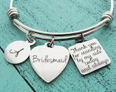 bridesmaid gift, bridesmaid proposal gift, bridesmaid jewelry, personalized wedding gift, bridesmaid bracelet, bridal party gift