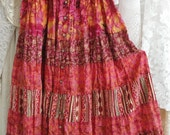 Gypsy boho bohemian mori girl shabby, Stevie Nicks flowy skirt