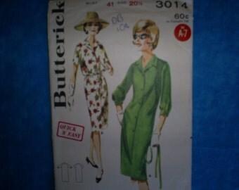 Butterick 3014 Misses Size 20 1/2.