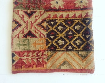 Boho chic wool pillow cover