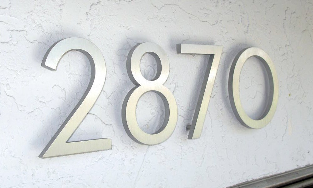 Modern House Number Aluminum Modern Font Number One By