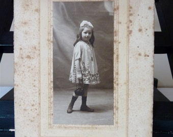 Shabby Chic - French Antique Photograph - Shabby french Photo - French old Sepia Photo - French Antique Picture - French girl 1900s