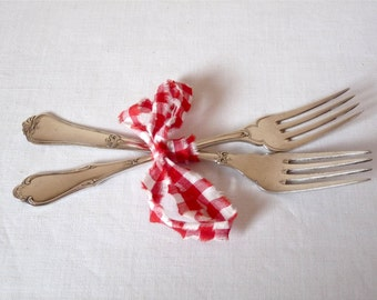 2 French antique silver plated Forks  French Fork French Dinner