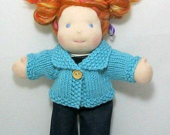 Handknit Waldorf Doll Cardigan-10 Inch Size