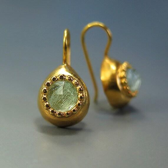Aquamarine Gemstone Earrings: Aquamarine Earrings Blue Aqua Gemstone Blue By