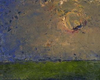 Prairie Soundless — Original Oil Painting, Landscape Painting, Abstract Landscape, Original Painting, Abstract Oil Painting, Fine Art, 5 x 7
