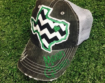 University of North Texas UNT State Baseball Bling Ladies Womens Trucker Hat