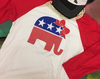 Republican elephant fashion baseball shirt
