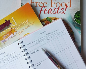 4 month SW Food Diary upgrade  -  Do NOT buy without purchasing a book cover from my shop first!