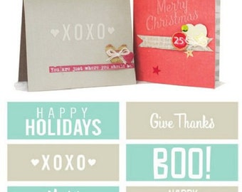 HOLIDAY PHRASES Embossing Strips (6) by We R Memory Keepers