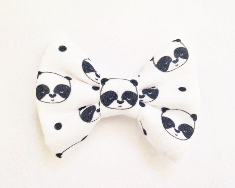 the panda handmade bow handmade bow bow tie or