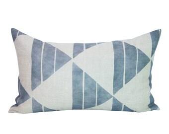 Uroko lumbar pillow cover in Snow