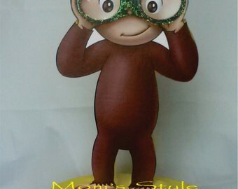 Curious George birthday party centerpiece  - bn