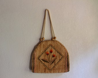 1970s Magid Raffia Beach Purse