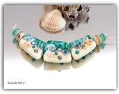 Lampwork Seaside set. Beads