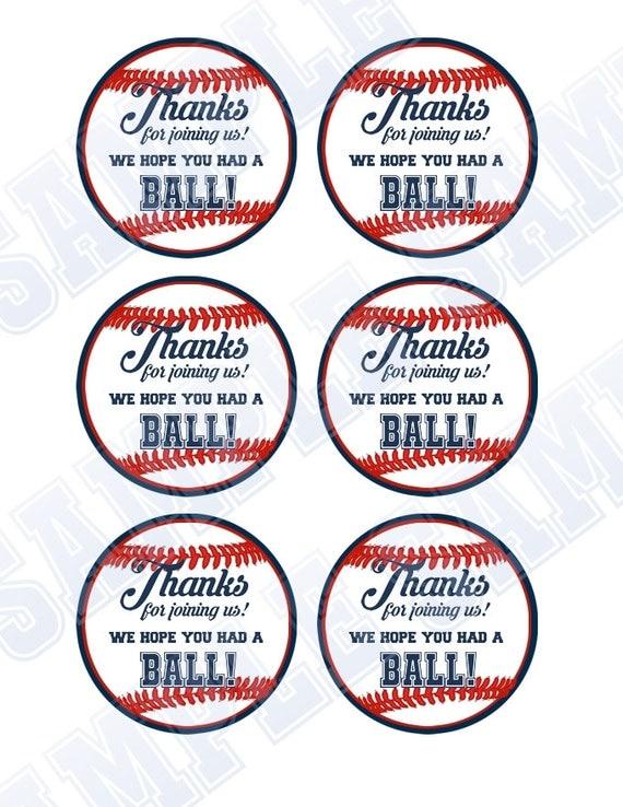 Baseball Party. Baseball Thank You Tags. by ...