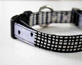 Geometric Patchwork Dog Collar