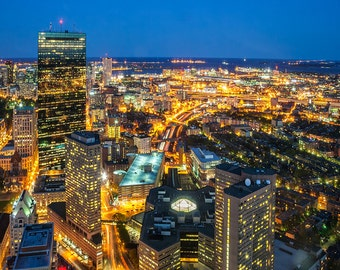 Photograph of Boston at Night