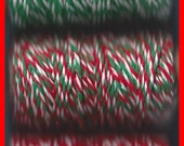 Christmas Twine Butchers String Hang Tag Rope Three Color Combos 75 yd
