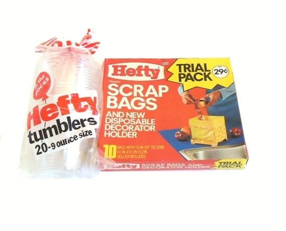 hefty scrap bags trial pack cardboard holder mini yellow