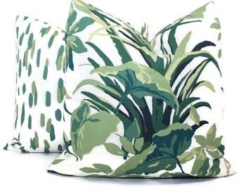 Robert Allen Madcap Bermuda Bay Palm Pillow Cover Square, Eurosham or Lumbar Pillow Cover, Toss Pillow